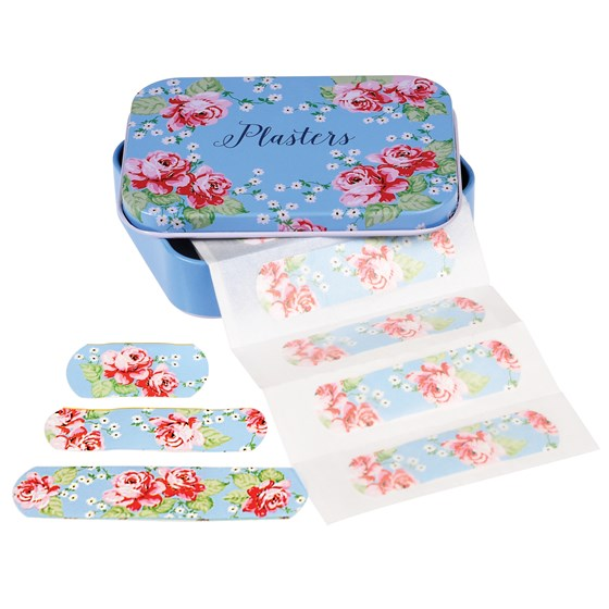 ENGLISH ROSE PLASTERS IN TIN