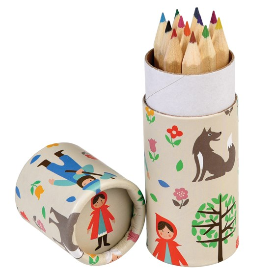 SET OF 12 RED RIDING HOOD COLOURING PENCILS