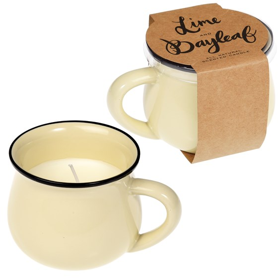 SCENTED NATURAL WAX CANDLE IN AN IVORY MUG