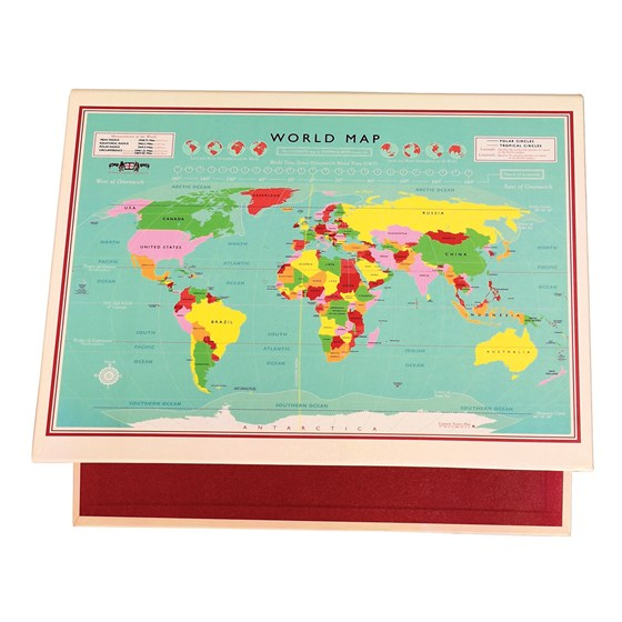 WORLD MAP RING BINDER