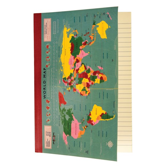 WORLD MAP A5 NOTEBOOK