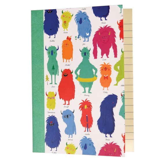 MONSTERS OF THE WORLD A6 NOTEBOOK