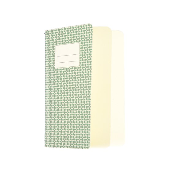 SMALL GREEN ABSTRACT NOTEBOOK