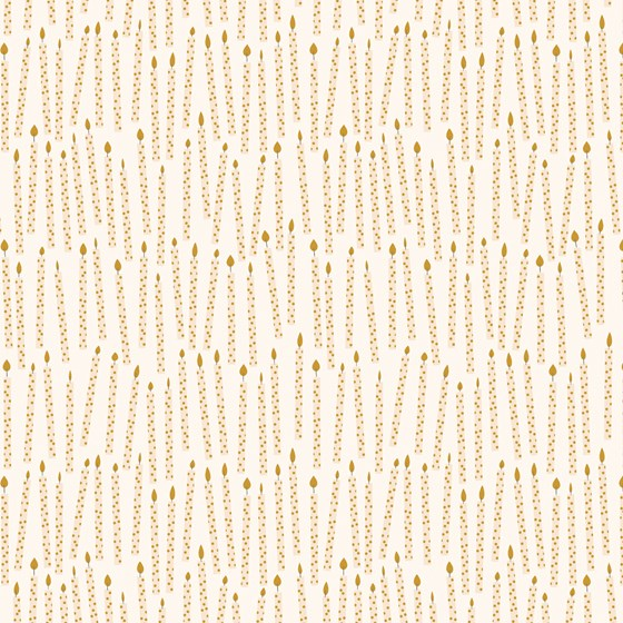 GOLD BIRTHDAY CANDLES WRAPPING PAPER