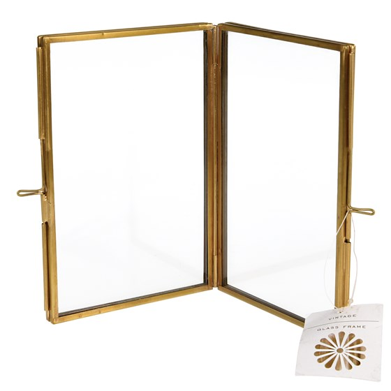 brass 4 sided photo frame