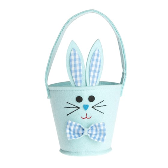 BLUE BUNNY EASTER EGG BASKET