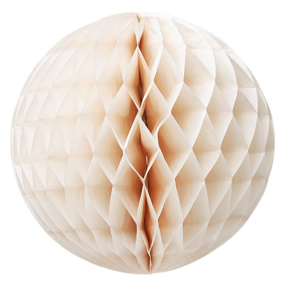 SMALL IVORY HONEYCOMB PAPER BALL