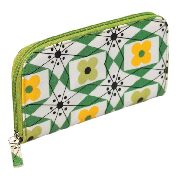 MID CENTURY FLORAL OILCLOTH WALLET