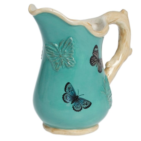 BOTANICAL BUTTERFLY JUG SMALL BLUE
