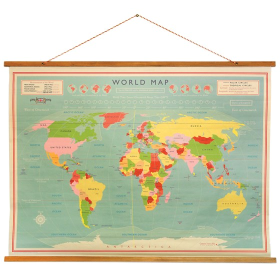 WORLD MAP WALL CHART