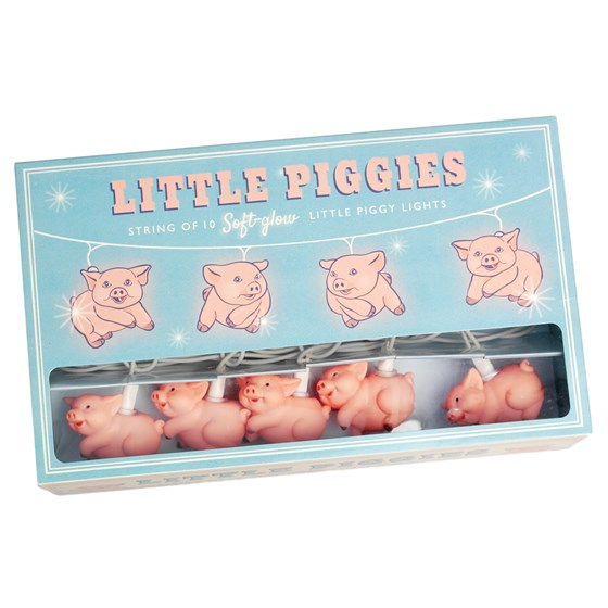 LITTLE PIGGIES PARTY LIGHTS WITH BS 3 PIN PLUG
