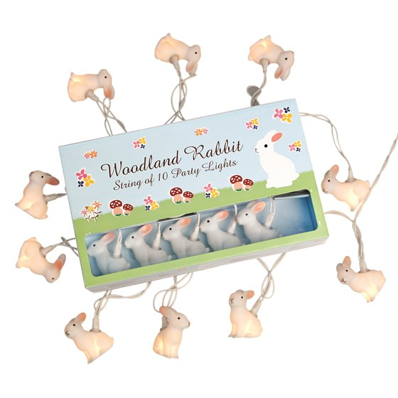 WOODLAND RABBIT LIGHTS WITH EU 2 PIN PLUG
