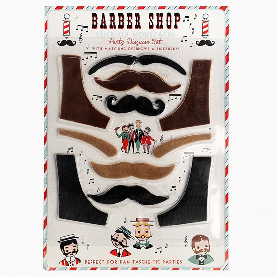 BARBER SHOP STICK-ON PARTY DISGUISE SET