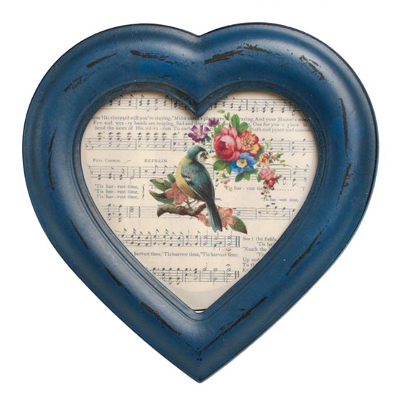 HERITAGE HEART SHAPE PICTURE FRAME