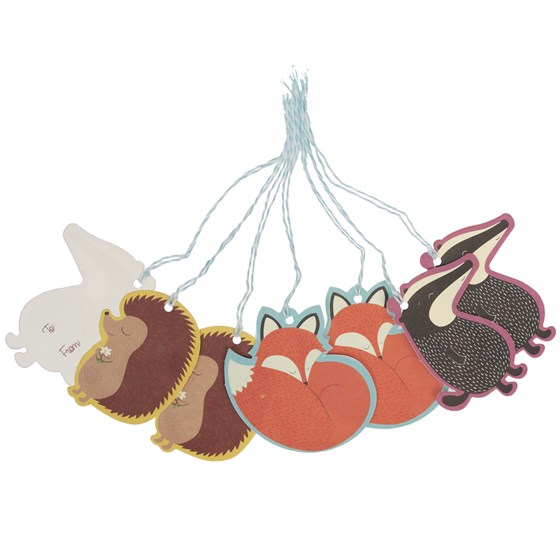 SET OF 6 RUSTY AND FRIENDS GIFT TAGS
