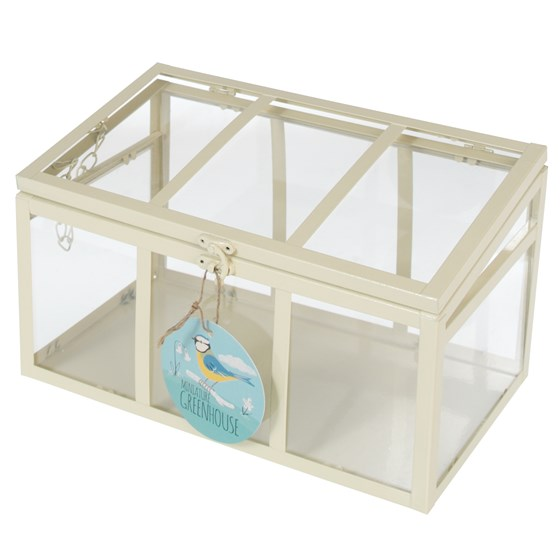 IVORY MINI COLD FRAME WITH 3 PANELS