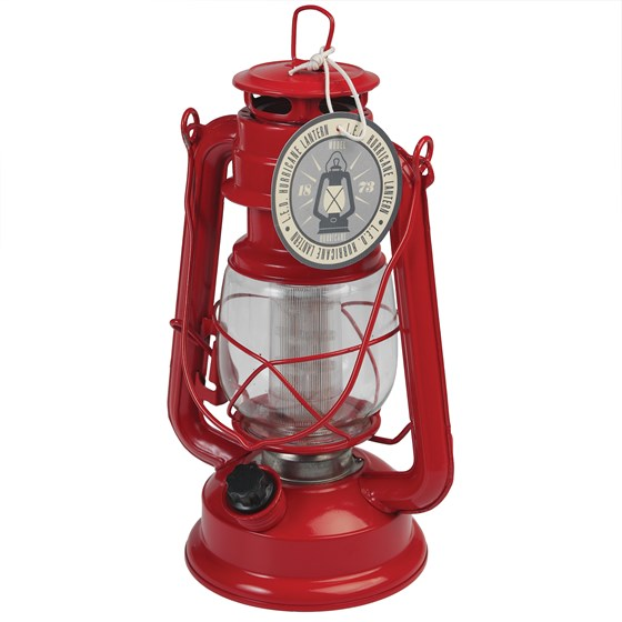 RED LED HURRICANE LAMP