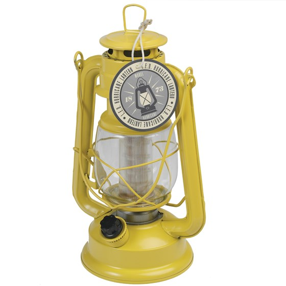YELLOW LED HURRICANE LAMP