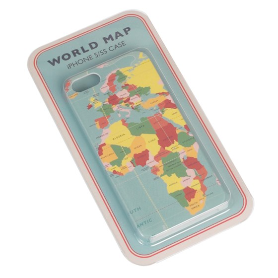 IPHONE SE/5/5S CASE WORLD MAP