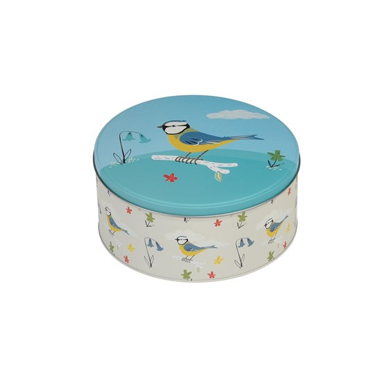 SET OF 3 GARDEN BIRDS DESIGN CAKE TINS