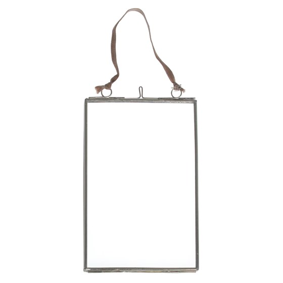 GLASS HANGING FRAME IN SILVER 15X10CM