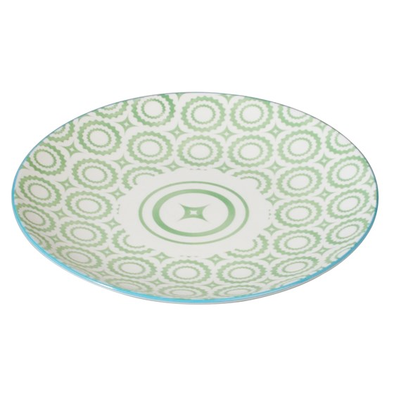 JAPANESE SIDE PLATE GREEN CIRCLES