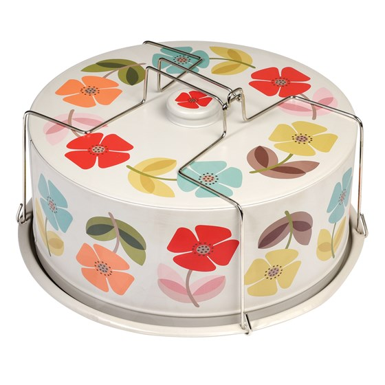MID CENTURY POPPY DESIGN CAKE CARRIER