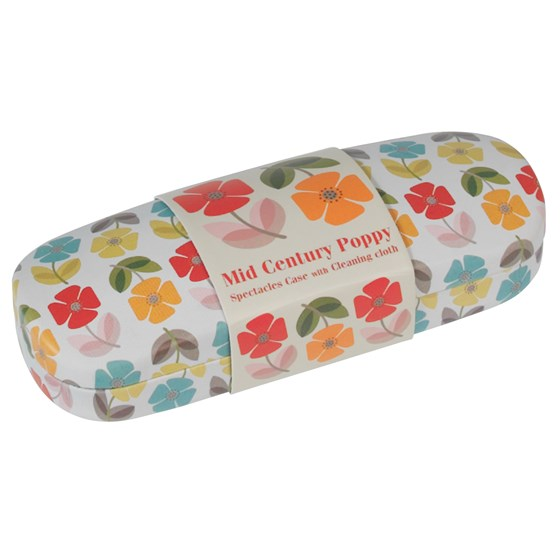 MID CENTURY POPPY GLASSES CASE & CLEANING CLOTH