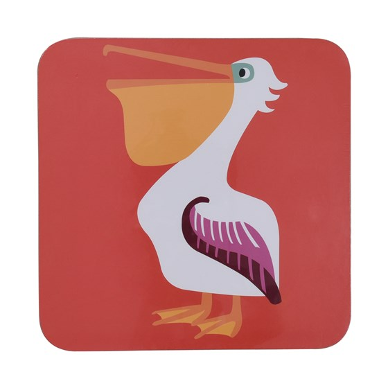 COLOURFUL CREATURES PELICAN PLACEMAT