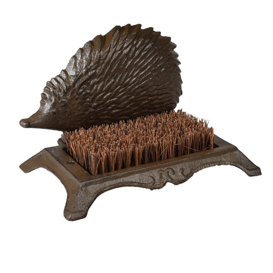 HEDGEHOG CAST IRON BOOT BRUSH