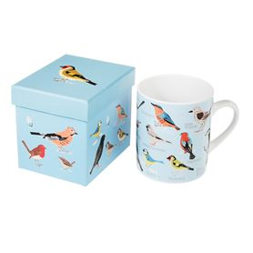 "kaffeebecher ""garden birds"" in geschenkbox"