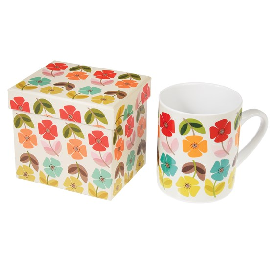 MUG IN A BOX MID CENTURY POPPY