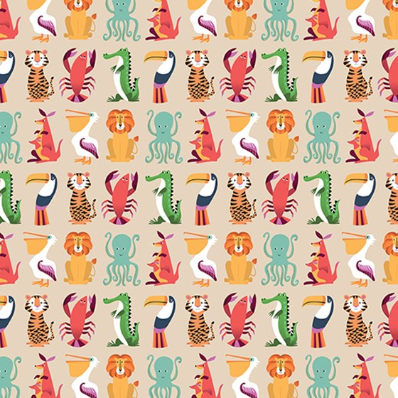 COLOURFUL CREATURES WRAPPING PAPER