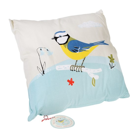 BLUE TIT CUSHION WITH PAD