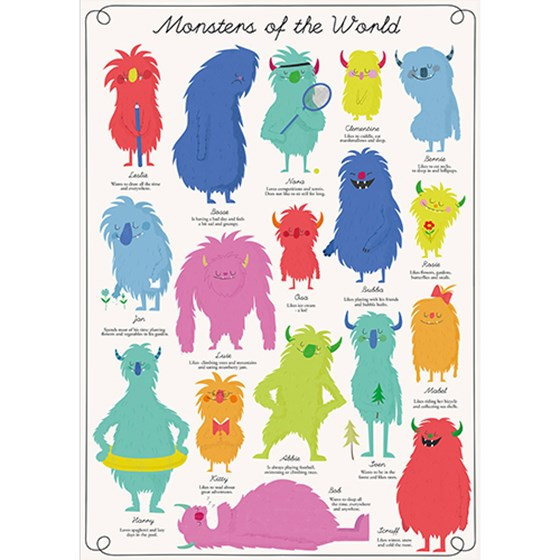 MONSTERS OF THE WORLD WRAPPING PAPER