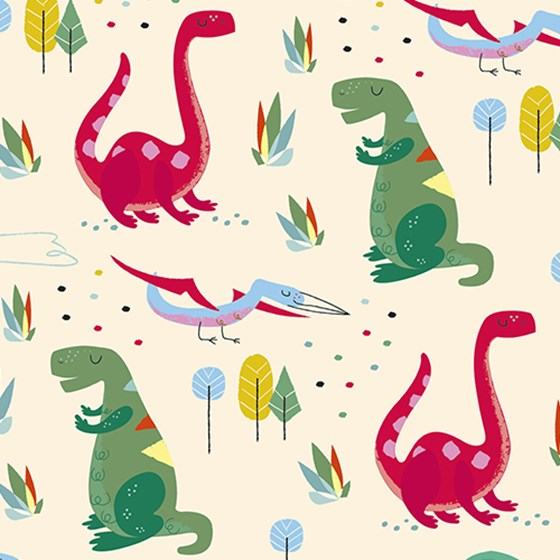green dinosaur wrapping paper