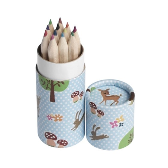 12 pencil small tube woodland