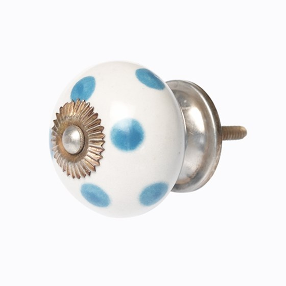 blue spot ceramic drawer knob