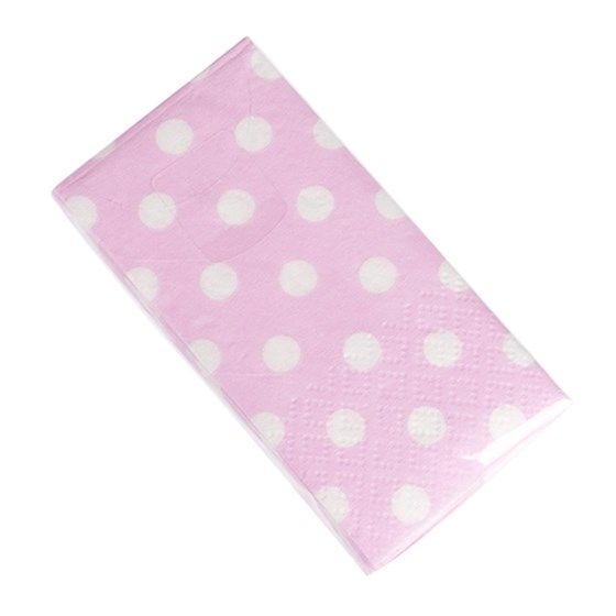 pack of 12 pink polkadot tissues