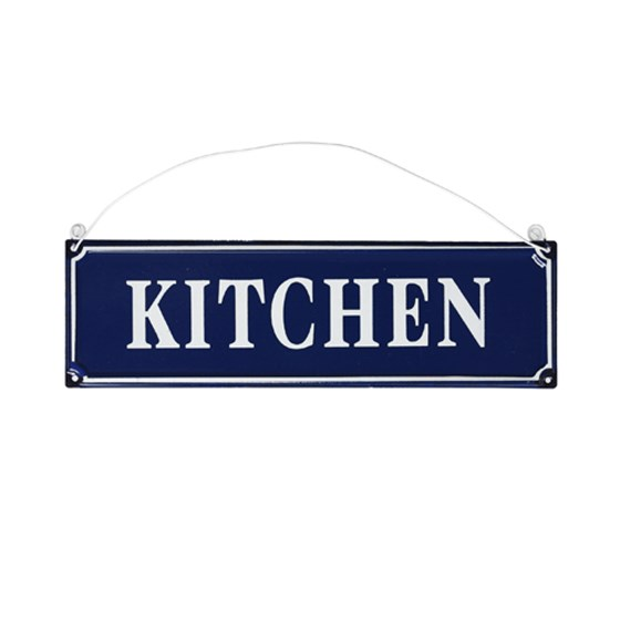 FRENCH KITCHEN SIGN BLUE METAL