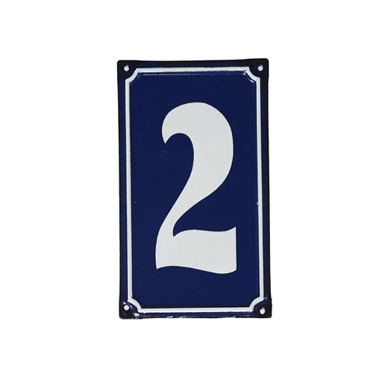 2 FRENCH BLUE METAL DOOR SIGN