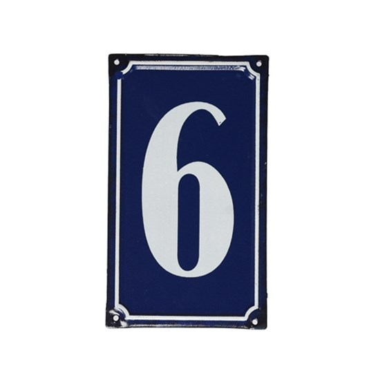 6 FRENCH BLUE METAL DOOR SIGN