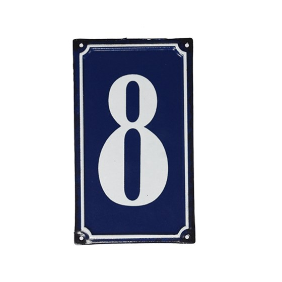 8 FRENCH BLUE METAL DOOR SIGN