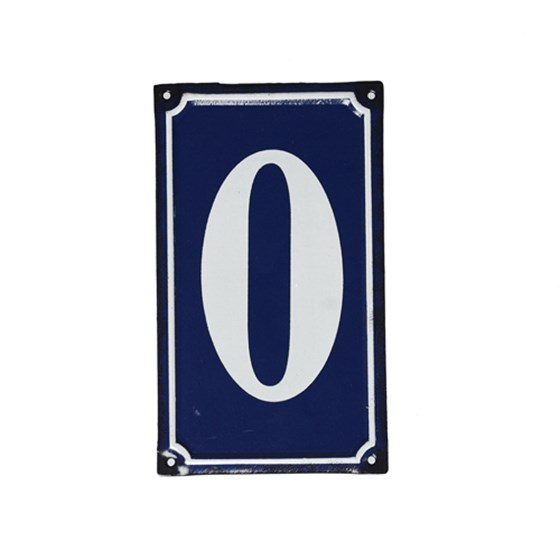 0 FRENCH BLUE METAL DOOR SIGN