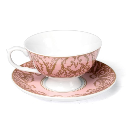 PINK REGENCY TEACUP AND SAUCER