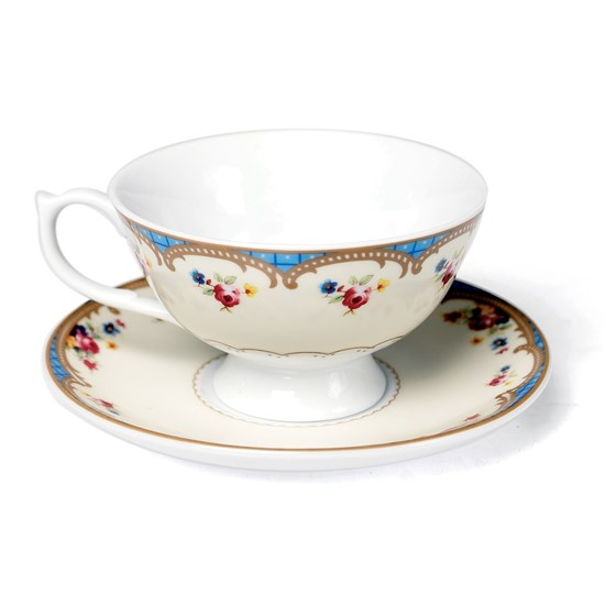 roses regency teacup and saucer