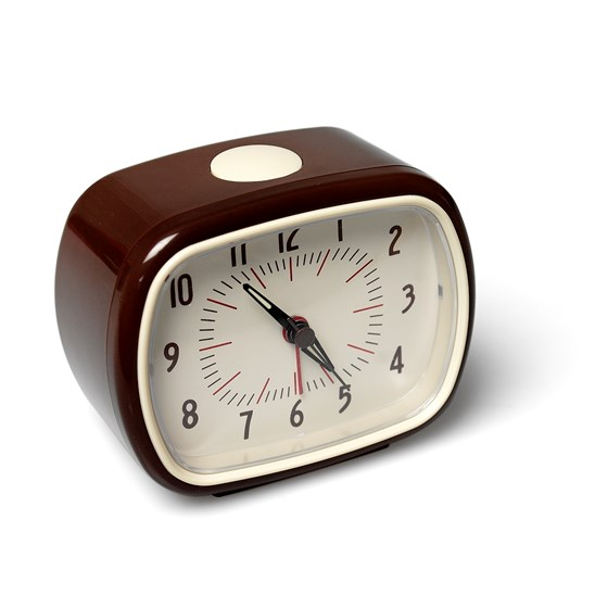 RETRO BROWN ALARM CLOCK