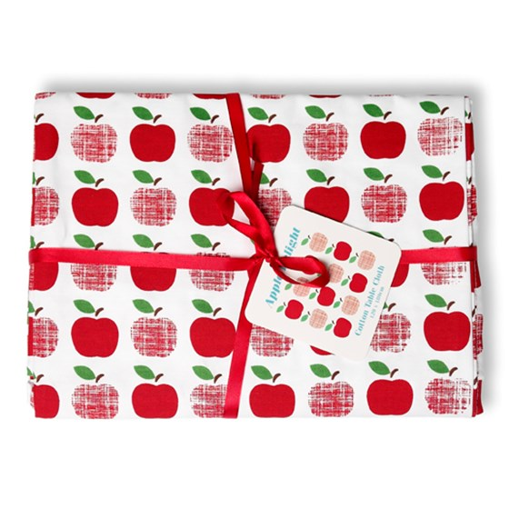 red apples cotton tablecloth