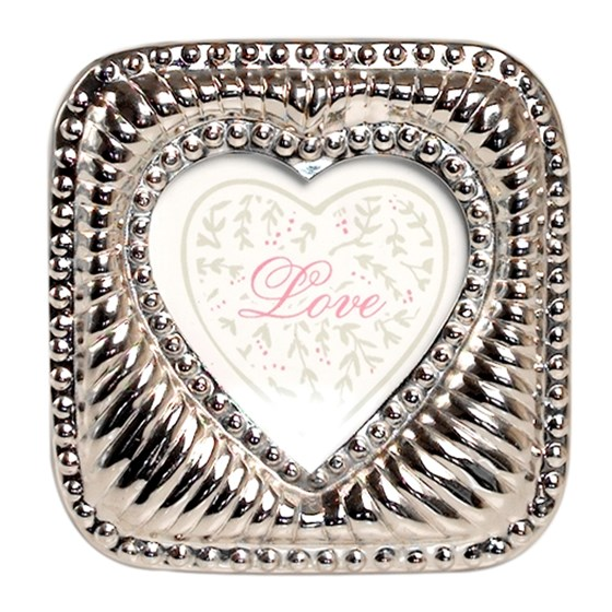 edwardian heart photo frame