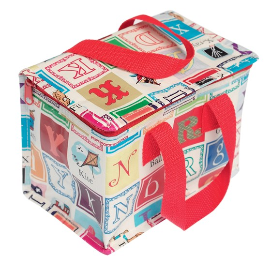 alphabet design lunch bag